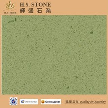 Hot sale green artificial quartz stone floor tile