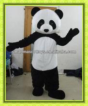 vendita calda panda peluche costume costume cinese bella adulto panda vestito per la vendita