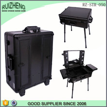 Factory custom makeup trolley bag trolley wheel suitcase
