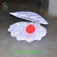 2015 New product led motif light shell for garden decoration holiday oenament