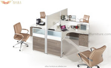 2015Latest design office desks partition workstations for 4 person hot selling HY-P05