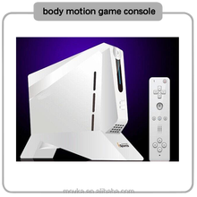 body motion game console with handheld video game
