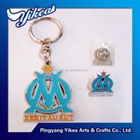 Promotional Dubai style key chain simple design enamel metal key chain