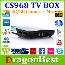 New Model RK3188 Android 4.2 Quad Core TV Box CS968 TV Box with Camera