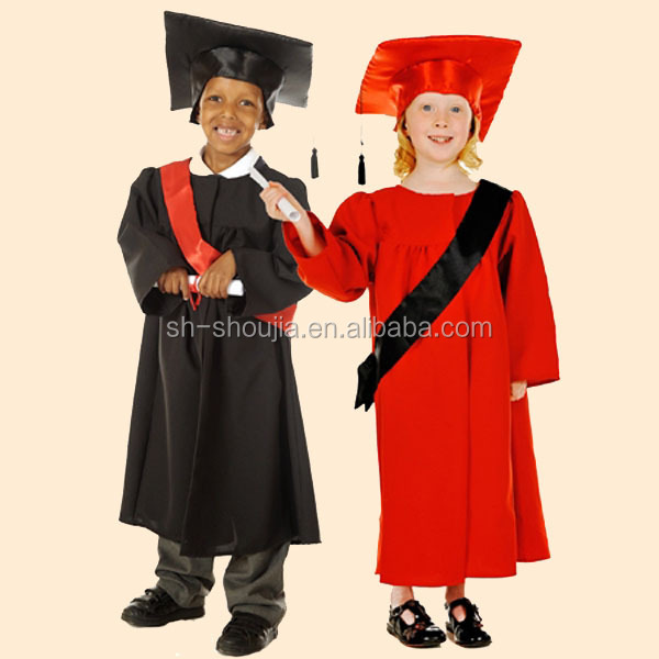 Graduation Gown Child,Black And Red Children Graduation Gown ...