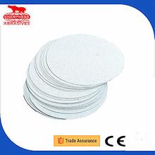 Adhesive-backed alumina velcro sand paper disc