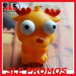 Stress Relief Eye Popping Large Decompression Squeeze Toy,pvc vinly toy keychain