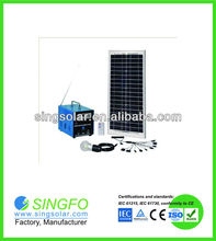 light substantial and handy 10W Mini Solar Power System for home lighting include solar panel LED bulbs