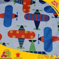 20mts MOQ customized designs Oeko Tex 100 print minky baby fabric