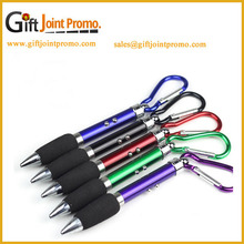 Promotional Led Mini Ballpoint Pen,Metal Carabiner Ballpoint Pen with LED