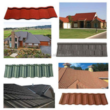 HOT SALE Synthetic bitumen Stone Coated Chip Steel Roof Tiles