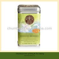 square tea tin packaging box