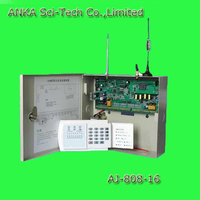 gsm+pstn dual network screen wireless alarm system sim card with ce