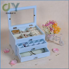 Unique Jewelry Box / Wholesale Unique 3 Drawers Wooden Jewelry Gift Cosmetics Storage Box