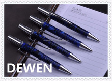 fashionable new item metal blue twist pen, high quality ballpoint pen