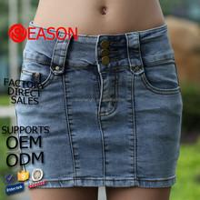 popular tennis denim women skirt shorts loose jeans dress 2015(jeans 069)