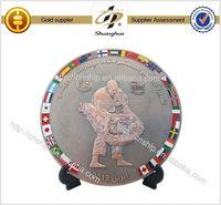 2015 high quality metal tourist souvenir plate with custom design