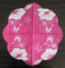 Flower shape color plate mat 3ply