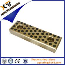Solid bronze slide plate ,oil free graphite bronze sliding block,oilless sliding sheet