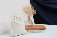 Wholesale small drawstring jute linen blank canvas bag with own logo