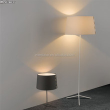 big white fabric floor lamp combo for wholesales