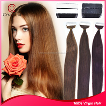 100% human and virgin hair double tape hair extension