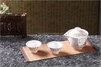 Low price tea set with tea pot,2 tea cups and bamboo curtain splint SNBKTS060