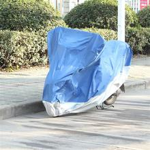 Double color motorcycle cover,sports bike cover for rain,silver scooter cover