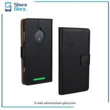 2015 Genuine Leather Wallet Case Card Bag Housing For Nokia Lumia 830 02