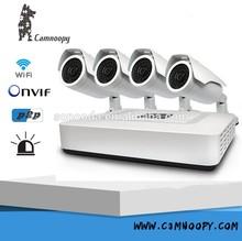 Onvif P2P 4 x 720 P cámara IP POE de seguridad CCTV 4ch nvr kit alta definición