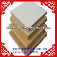 standard size plain/raw/melamine/HPL/wood veneer/UV mdf board/Hdf MDF from china factory