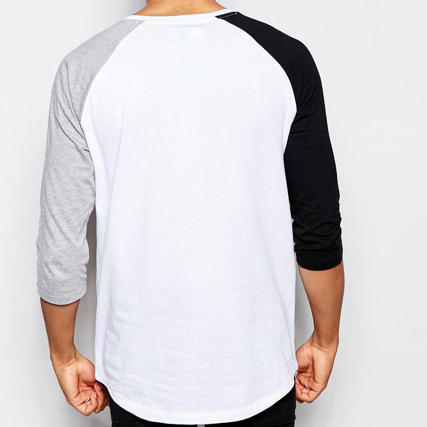 high quality wholesale white bulk blank raglan 3 4 sleeve