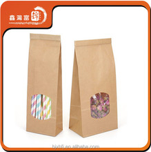 alibaba express fashionable brown paper bag with window