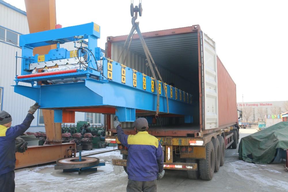 machine pour fabrication de rideaux metallique de garages