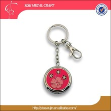 Fancy metal customized keychain ,red enamel keyring