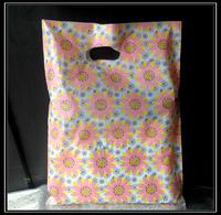 Sunflower pictures Plain Cheap Die Cut Punch Recycle Plastic Bag