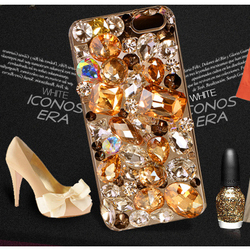 Hot Sale Crystal Bling Metal Frame Bumper Diamond Phone Cases Covers For Apple Iphone 5 5s