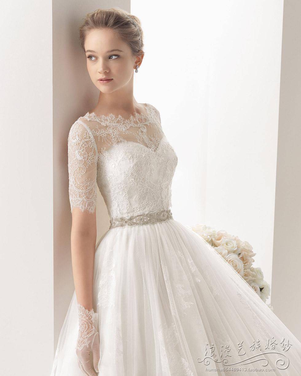 wholesale lace boat neck detachable jacket a line tulle wedding dress. Black Bedroom Furniture Sets. Home Design Ideas