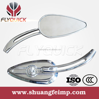 Sf-104 Flyquick High Quality and cheap chrome and black custom harley mirrors from china manufacturer