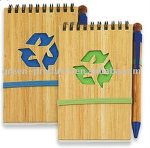eco friendly Bamboo cover notebook (Item No: TBB009)
