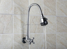 Wall Mounted Chrome Kitchen Swivel Faucet Wholesale And Retail Brass Water Tap Vessel Sink Faucets,Mixers & Taps