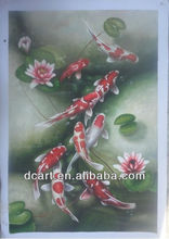 Contemporary Handmade Fish Oil Painting