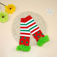 Newest Baby Christmas Leg Warmers Toddler Safety Crawling Knee Pads Infant Warm Knee Socks