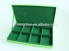 Green tea cardboard box with 8 compartments