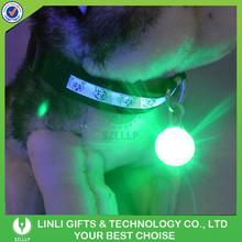 LED Safety Dog Pendant Fashion Flash Pet Tag Pendant Puppy Blinker Collar Pendant