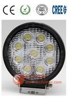 Novei Item!10-30v IP68 spot/flood beam 27W Led Work Light for truck,4x4