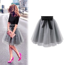2015 fashion princess fairy style 2 layers bouffant girls puffy dresses tulle skirt