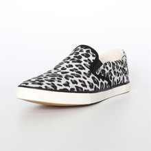 men leopard print office flat dress casual canvas custom shoes