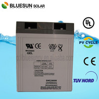 OEM service by Bluesun good price dry cell solar battery for 2v 600ah