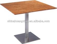 mdf cuadrados superior base de acero inoxidable mesa de comedor hdt0331